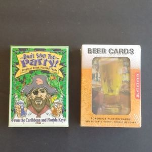 Lot of 2 Tropical Drinks and Beer Playing Cards